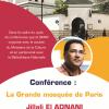 "Conférence : ""La Grande Mosquée de Paris"", Pr Jilali El Adnani."