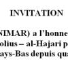 Invitation de L'Institut néerlandais au Maroc (NIMAR), pour la première conférence annuelle.