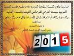 تهنئة بمناسبة حلول السنة الميلادية الجديدة 2015